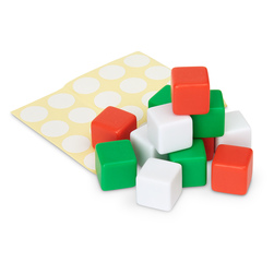 Blank Dice and Label Set