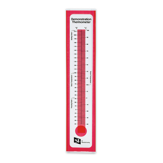 Demonstration Thermometer,- Transparent