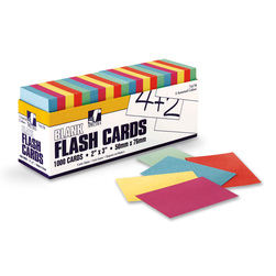 Pacon Blank Colored Flash Cards