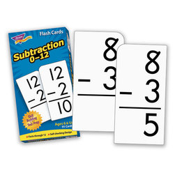 Drill Flash Cards 0-12 Skill, Subtraction