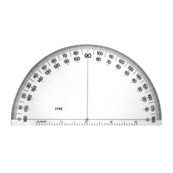 6 in. Solid Protractor