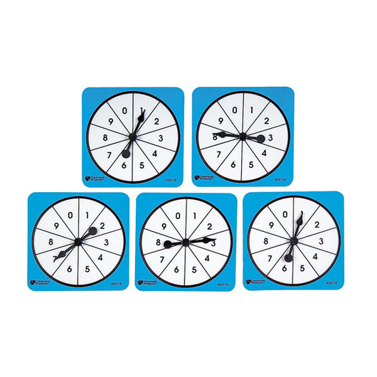 Number Spinner Set - 0-9 Spinners