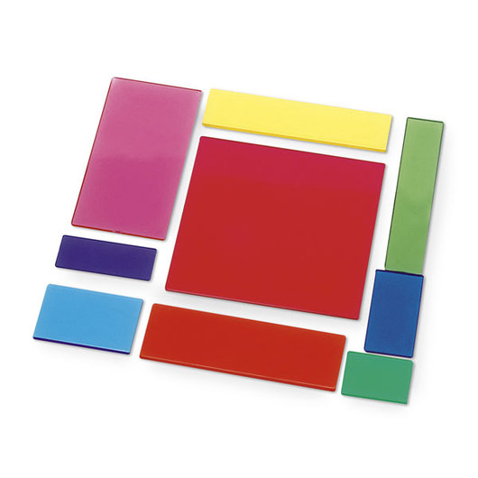 Nasco Transparent Fraction Squares