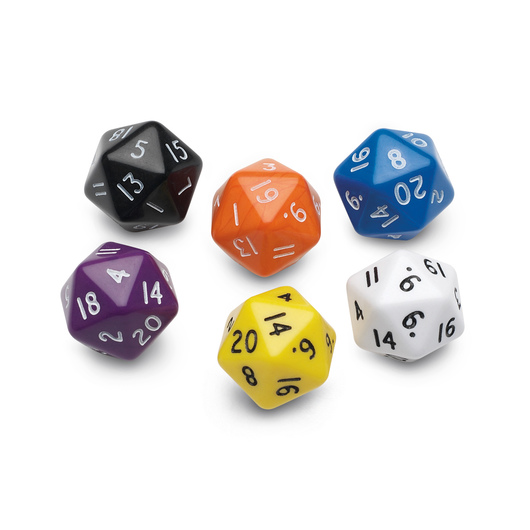 20-Sided (Icosahedron) Polyhedra Dice - Numbered 1-20