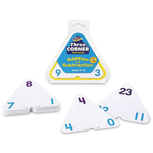 Three-Corner® Flash Cards - Addition and Subtraction
