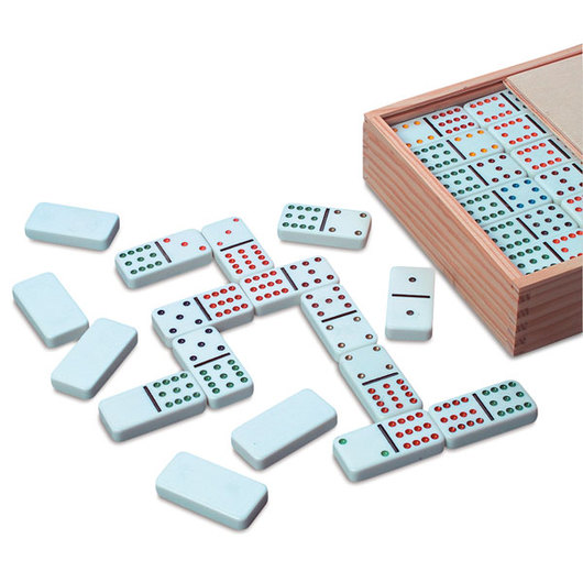 Deluxe Color Dot Dominoes - Double-Twelve Set