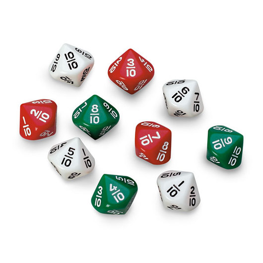 10-Sided Fraction Dice