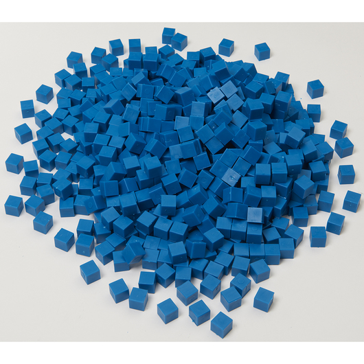 Blue Base 10 (Ten) Blocks - Pkg. of 1,000 Unit Cubes
