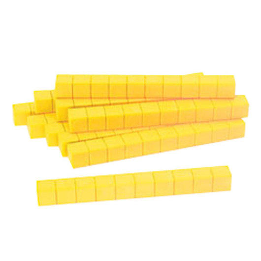 Yellow Base 10 (Ten) Blocks - Pkg. of 10 Rods