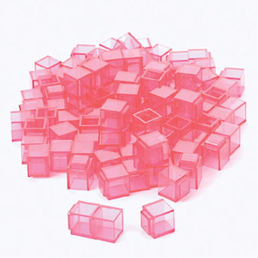 Red Clearview Base 10 Cubes - Pkg. of 100