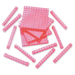 Red Clearview Base 10 Rods - Pkg. of 50