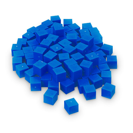 Blue Base 10 (Ten) Blocks - Pkg. of 100 Unit Cubes