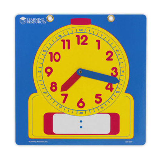 Write-On/Wipe-Off Demonstration Clock