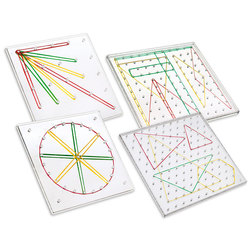 Transparent Geoboard Set