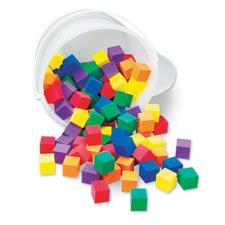 Foam Color Cubes, 1 in.