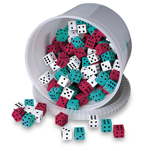 Nasco Foam Dot Dice - Bucket of 144