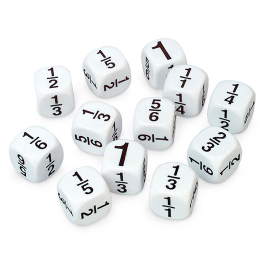 Koplow Math Fraction Dice - Set of 12