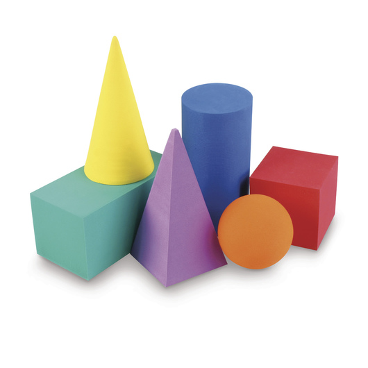 SI Manufacturing Foam Geometric Solids - 5-1/2 in. H. - Set of 6