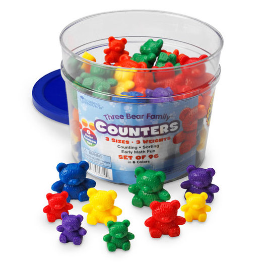 Learning Resources® Three Bear Family® Counters - Set of 96