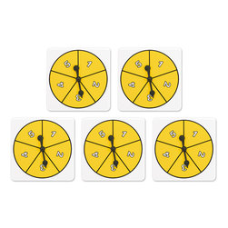 Number Spinner Set, 1-5 Spinners