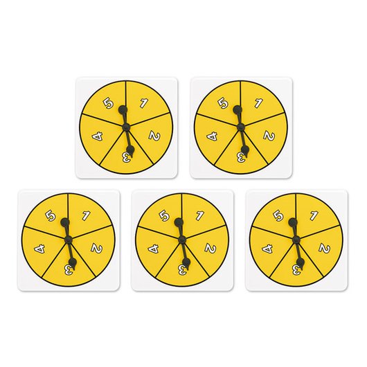 Number Spinner Set - 1-5 Spinners
