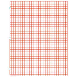 Rectangular Graph Paper, 1/4 in. Squares