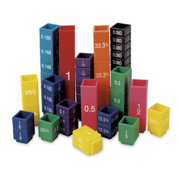 Fraction Tower Fraction Cubes, Equivalent Fraction Cubes