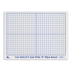 Write 'N' Wipe Board Class Set of 30 - X-Y Axis