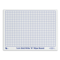 Write 'N' Wipe Board Class Set, 1 cm Grid - Set of 30
