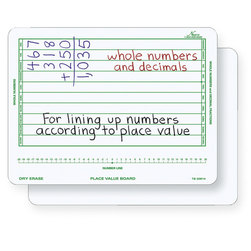 Nasco DoubleSided Place Value DryErase Board