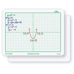 Nasco Double-Sided Coordinate Grid Dry-Erase Board, 9 in. x 12 in.