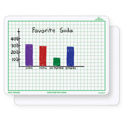 Nasco Double-Sided Centimeter Grid Dry-Erase Board, 9 in. x 12 in.