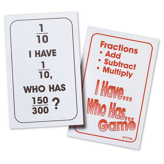 Nasco I Have… Who Has… Simplifying Fractions Card Game