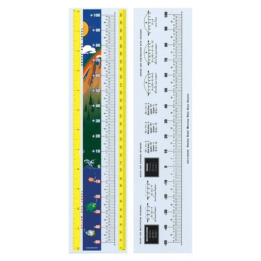 Integer Number Line Ruler Pkg. - 12 in.