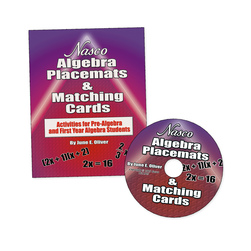 Nasco Algebra Placemats & Matching Cards, Normal