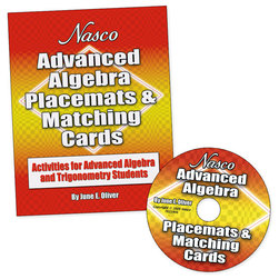 Nasco Advanced Algebra Placemats & Matching Cards