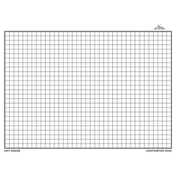 Nasco Double-Sided Centimeter Grid Dry-Erase Board, 11-1/2 in. x 15-1/2 in.