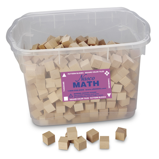 1 in. Plain Wooden Cubes - Set of 500