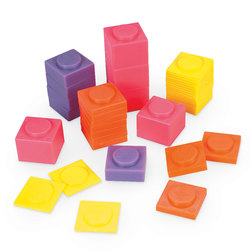 Plastic Stacking Masses, Set of 80