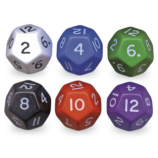 12-Sided Jumbo Numbered Dice
