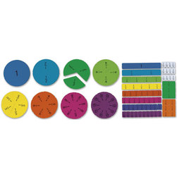 Magnetic Tiles & Circles Set, Fractions