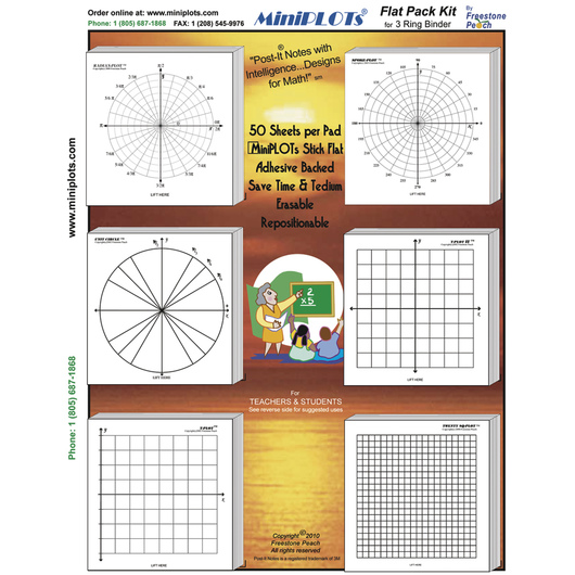 Small Sticky Graph Paper Pads - Trigonometry