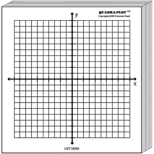 Small Sticky Graph Paper Pads - Algebra