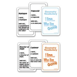 Nasco I Have... Who Has...? Math Game - Geometry Vocabulary