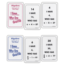 Nasco I Have... Who Has...? Math Game - Algebra