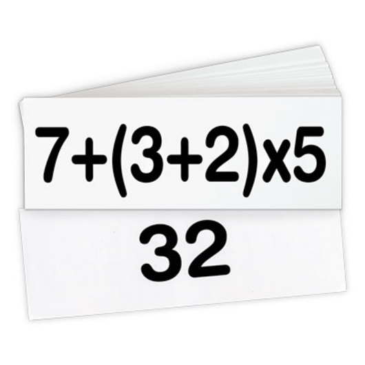 Order of Operations Flash Cards - Pre-Algebra
