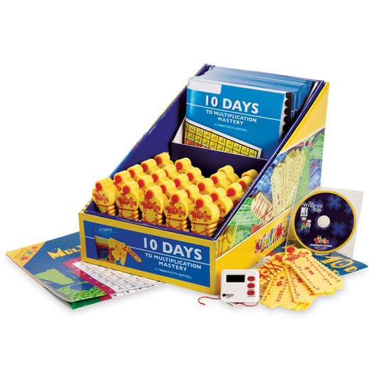 Learning Wrap-Ups® 10 Days to Multiplication Mastery Class Kit