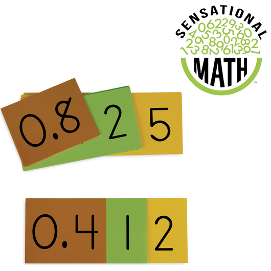 Sensational Math™ Place Value Decimal Cards - Teacher Demonstration Set