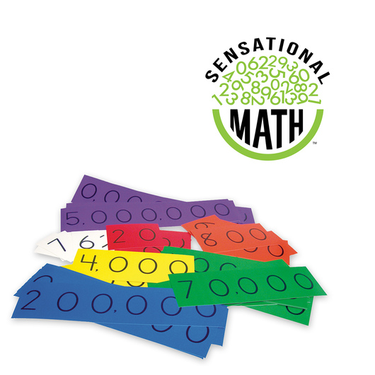 Sensational Math™ Place Value Cards - Up to the Millions Place Student Demonstration Set