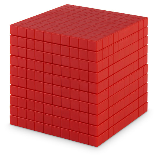 Red Base 10 (Ten) Blocks - Pkg. of 10 Flats